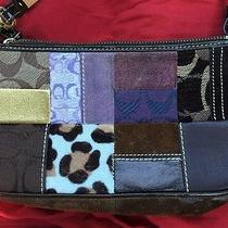 Coach Legacy Patchwork Holiday K05s-7071 Shoulder Bag Purse Handbag Suede Multi Photo