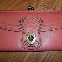 Coach Legacy Pink Leather Full Size Wallet Photo