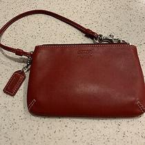 Coach Legacy Red Leather Wristlet Wallet - Euc Photo