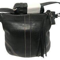 Coach Legacy Soho Black Leather Crossbody Purse Swingpack Bag  Photo