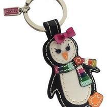 Coach Legacy Stripe Penguin Keychain Keychain Key Ring  Photo