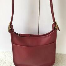 Coach Legacy Vintage Red Leather Crossbody Shoulder Bag 9966 Made in Usa Photo