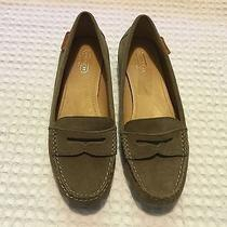 Coach Leigh Suede Loafers Flats 145 Tan 7 B Photo