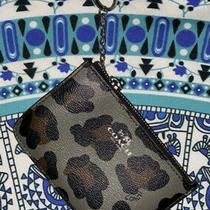 Coach Leopard Key Ring Coin Pouch Photo