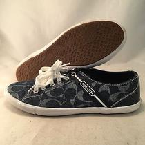Coach Leslie Signature Blue Sneaker - Q1402 - Women's Size 10b - Great Photo