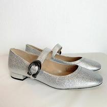 Coach Lexi Mary Jane Silver  Metallic Shiny Flats Size 9.5 Photo