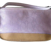 Coach Light Baby Pink Tan Purse Handbag Authentic Photo