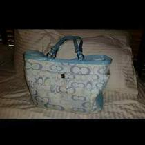 Coach Light Blue Diaper Bag Photo