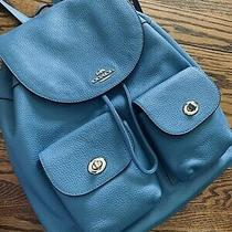 Coach Light Blue Leather Backpack F29008 Photo