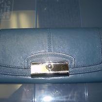 Coach Light Blue Leather Wallet Photo