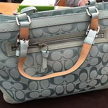 Coach Light Blue Purse Photo