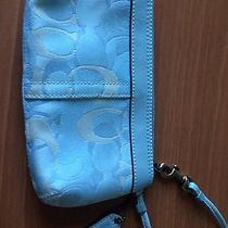 Coach Light Blue Wristlet Photo