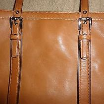 Coach Light Brown Satchel With Dark Brown Accents Photo