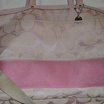 Coach Light Pink Diaper Bag With Strap Photo