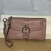 Coach Light Pink Leather Wristlet 8 X 4 Inches Photo