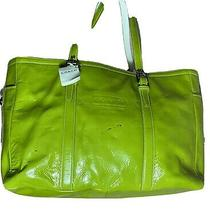 Coach  Lime Green  Patent Leather Tote Photo