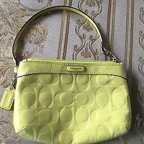 Coach Lime Green Patent Leather Wristlet Photo