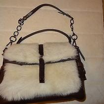 Coach Limited Edition Pinnacle Leather Fur Eva 18662 With Mahogany Leather Photo