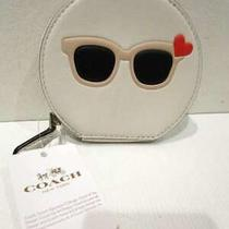 Coach Lined Coin Case Wht / Sunglasses Photo
