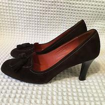 Coach Lisette Brown Suede High Heels Loafers Pumps 9.5 B Photo