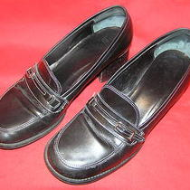 Coach Loafers Heels Flats Black Buckle 8 B Photo