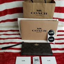 Coach Long Wallet/wristlet Nwt With Gift Bag & Box Photo