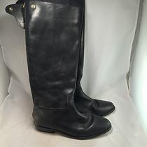 Coach Lonnie Black Leather Boot - Q31010 - Women's Size 9b - Great Photo