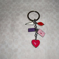Coach Love Letter Multi Mix Key Ring 93094 Nwot Great for Mothers' Day  Photo
