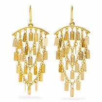 Coach Lozenge Chandelier Earrings Style F96506 Gd/gold Photo
