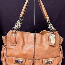 Coach Ltd Ed Flagship Xl Chelsea Caramel Leather Tote Shoulder Bag Purse Rare Photo