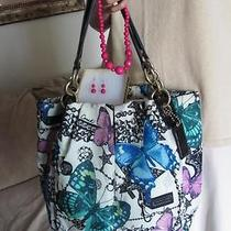 Coach Ltd. Ed. Parker Butterfly Tote 13415 - 498.  Necklace & Earring Set Photo