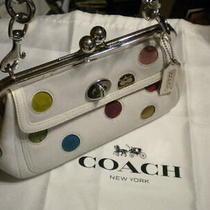 Coach Ltd Ed Polka Dot Gallery Frame Convertible Clutch Purse & Logo Storage Bag Photo