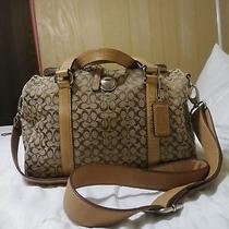 Coach Luggage Signature Duffel  Voyage Tan/beige Carry on  77118 Photo