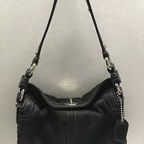 Coach Luxurious Black Canvas With Leather Trim 10980 Women's Handbag Photo