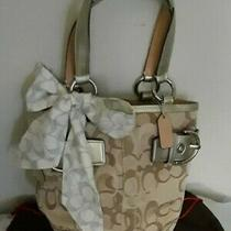 Coach Luxury Ponytail Scarf Euc Photo