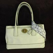 Coach Madeline 11554 Ivory White Leather Satchel Shopper Handbag Purse Carryall Photo