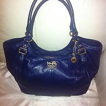 Coach Madison Abigail Navy Blue Leather 18612 Photo