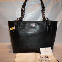 Coach Madison Black Leather Tote Bag/purse 20466 100% Authentic Photo