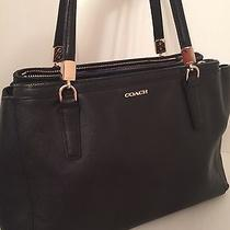 Coach Madison Black Saffiano Christie Handbag- 30128 (Free Shipping) Photo