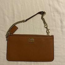 Coach Madison Brown Leather Wristlet Chain Nwot Photo