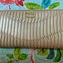 Coach Madison Gathered Leather Accordion Zip Wallet Pearlized Beige Photo