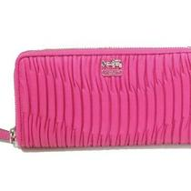 Coach - Madison Gathered Leather Zip Clutch - Nwt Photo