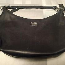 Coach Madison Hailey 14304 Black Leather Hobo Bag Purse W 3 Hangtags Damaged Photo