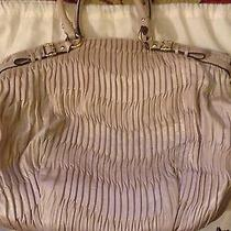 Coach Madison Ivory Gathered Leather Satchel  Photo