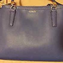 Coach Madison Lacquer Blue Saffiano Leather Small Christie Carryall -  30128 Photo