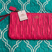 Coach Madison Leather Wristlet Pink Retails 248 New With Tags Photo
