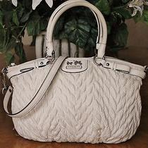 Coach Madison Lindsey 70th Anniversary Quilted Chevron Purse 18637msrp 398 Photo
