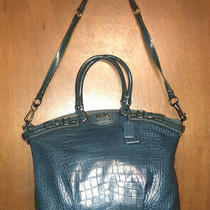 Coach Madison Lindsey Teal Croc Embossed Convertible Shou Tote/satchel 18622 Photo