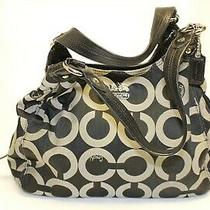 Coach Madison Maggie A1073-14305 Optic C Sateen Jacquard and Leather Tote Bag Photo