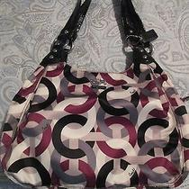 Coach Madison Maggie Chainlink Op Art Handbag Photo